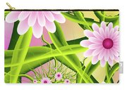 Fractal Fantasy Neon Flower Garden Carry-all Pouch