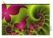 Fractal Fluorescent Fantasy Flowers Carry-all Pouch