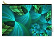 Fractal Gently Worn Carry-all Pouch