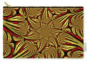 Fractal Golden And Red Carry-all Pouch