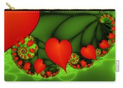 Fractal Hearts In The Discothec Carry-all Pouch