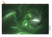 Fractal Living Green Metal Carry-all Pouch