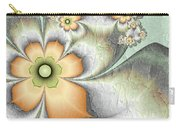 Fractal Nostalgic Flowers Carry-all Pouch