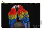Fractal Parrots Carry-all Pouch