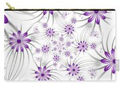 Fractal Purple Flowers Carry-all Pouch