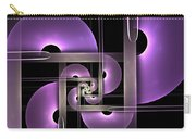 Fractal Purple Semicircles Carry-all Pouch