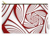 Fractal Red And White Carry-all Pouch