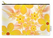Fractal Yellow Flowers Carry-all Pouch