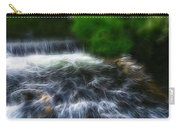 Fractalius - River Wye Waterfall - In Peak District - England Carry-all Pouch