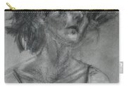 Gathering Strength - Original Charcoal Drawing - Contemporary Impressionist Art Carry-all Pouch
