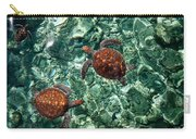 Fragile Underwater World. Sea Turtles In A Crystal Water. Maldives Carry-all Pouch by Jenny Rainbow