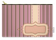 Frame With Ribbon Pinstripe Vector Carry-all Pouch