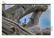 Framed Lighthouse Carry-all Pouch by Robert Bales