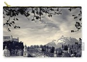Framed View Of Salzburg From Kapuzinerberg Carry-all Pouch