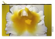 Framed White Orchid Carry-all Pouch