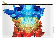 France - European Map By Sharon Cummings Carry-all Pouch