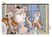 France In The 18th Century Carry-all Pouch by Georges Barbier