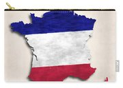 France Map Art With Flag Design Carry-all Pouch