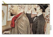 France Paris Poster Of Paul Verlaine And Jean Moreas Carry-all Pouch