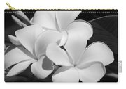 Frangipani In Black And White Carry-all Pouch