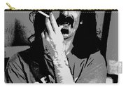 Frank Zappa - Chalk And Charcoal Carry-all Pouch by Joann Vitali
