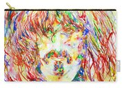 Frank Zappa Watercolor Portrait.1 Carry-all Pouch