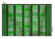 Frankensteins Quilt - Coin Quilt - Quilt Painting - Monster Green Patches Carry-all Pouch
