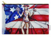 Free As Independence Day Carry-all Pouch by Shana Rowe Jackson
