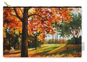 Freedom Of Autumn - Palette Knife Oil Painting On Canvas By Leonid Afremov Carry-all Pouch