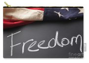 Freedom Sign On Chalkboard Carry-all Pouch