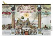 Freemason Emblematic Chart Carry-all Pouch