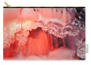Freezing Waterfall Glowing In Red Light Carry-all Pouch