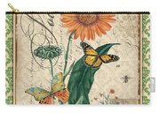 French Botanical Damask-a Carry-all Pouch