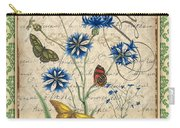 French Botanical Damask-b Carry-all Pouch