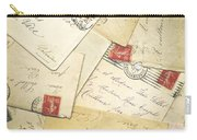 French Correspondence From Ww1 #1 Carry-all Pouch