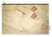 French Correspondence From Ww1 #2 Carry-all Pouch
