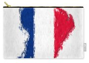 French Guiana Painted Flag Map Carry-all Pouch