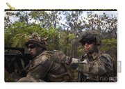 French Marines Scout Ahead Of A Patrol Carry-all Pouch