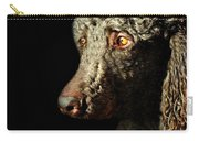 French Poodle Standard Carry-all Pouch by Diana Angstadt