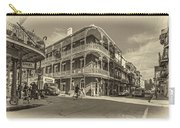 French Quarter Afternoon Sepia Carry-all Pouch