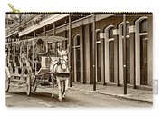 French Quarter Carriage Ride Sepia Carry-all Pouch