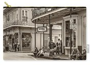 French Quarter - Hangin' Out Sepia Carry-all Pouch
