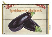 French Vegetable Sign 3 Carry-all Pouch by Debbie DeWitt