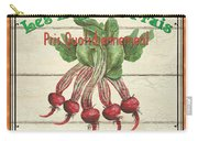 French Vegetable Sign 4 Carry-all Pouch by Debbie DeWitt
