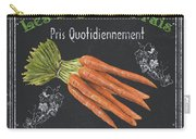 French Vegetables 4 Carry-all Pouch by Debbie DeWitt