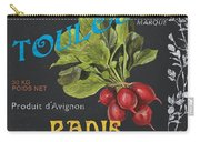 French Veggie Labels 3 Carry-all Pouch by Debbie DeWitt