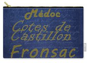French Wines - 2 Champagne And Bordeaux Region Carry-all Pouch