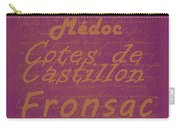 French Wines-3 - Champagne And Bordeaux Region Carry-all Pouch