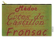 French Wines - 4 Champagne And Bordeaux Region Carry-all Pouch