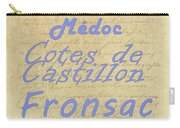 French Wines - Champagne And Bordeaux Region-1 Carry-all Pouch